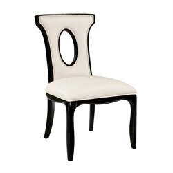 Sterling Alexis Side Chair in Black and Off White