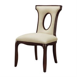 Sterling Blakemore Side Chair in Dark Mahogany and Ecru