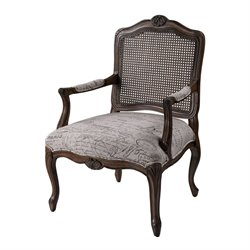 Sterling Marianne Arm Chair in Brown and Tan and Black