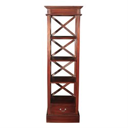 Sterling Galloway 4 Shelf Bookcase in Mahogany Stain