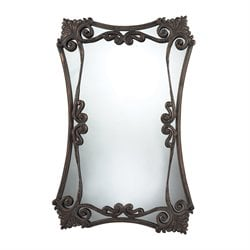 Sterling Iron Bridge Decorative Mirror in Copper and Distressed Patina