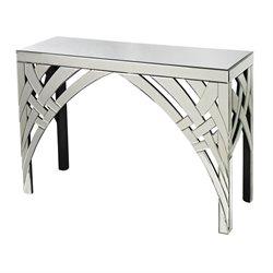 Sterling Arched Ribbons Mirrored Console Table