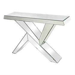 Sterling Juxtaposed Angles Mirrored Console Table