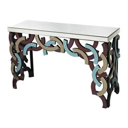Sterling Confetti Console Table in Purple and Blue and Smoke
