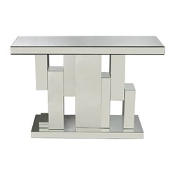 Sterling Tetrominoes Mirrored Console Table