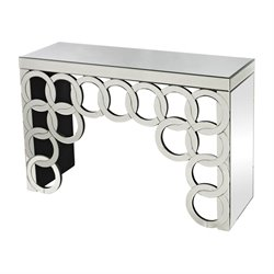 Sterling Silver Rings Mirrored Console Table