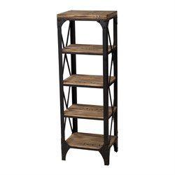Sterling Restoration 4 Shelf Bookcase in Pine and Restoration Black