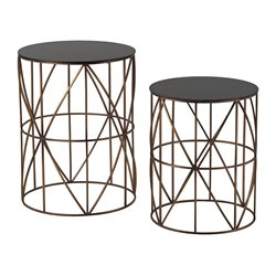Sterling Bradfield End Table in Bright Gold (Set of 2)