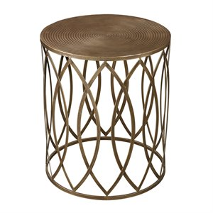 Sterling Sutton Accent Table in Gold Paint and Champagne Antique