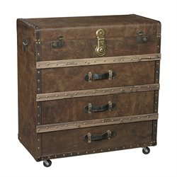 Sterling Pelican Harbor Accent Chest in Leather