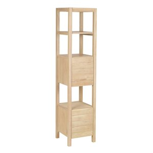 Sterling Simone 3 Shelf Bookcase in Light Natural Wood