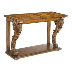 Sterling Chandon Console Table in Mid Tone Wood Stain