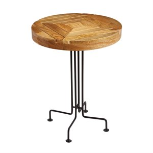 Sterling Accent Table in Natural and Black