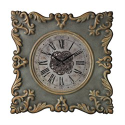 Sterling Nahant Wall Clock in Antique Gray