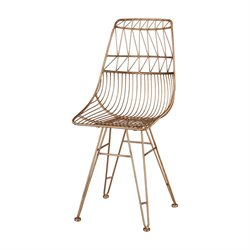 Sterling Jette Accent Chair in Rose Gold