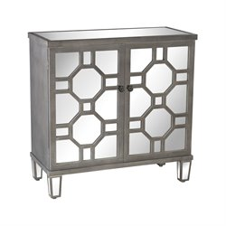 Sterling Cheyne Walk Accent Cabinet in Black and White Dust