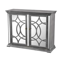 Sterling Kiruna Accent Cabinet in Black and White Dust