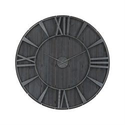 Sterling Cape Verde Wall Clock in Restoration Black