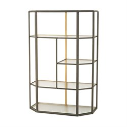 Sterling Industrial 4 Shelf Bookcase in Gray Aged Iron
