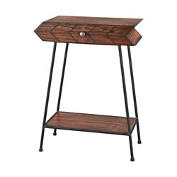 Sterling Accent Table in Walnut and Black
