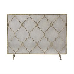 Sterling Agra Fireplace Screen in Antique Gold