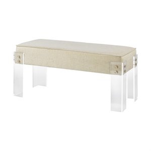 Sterling Kobenhavn Bench in Cream and Clear