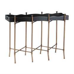 Sterling Console Table in Gold and Black