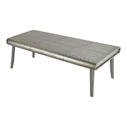 Sterling Sherborn Coffee Table in Aluminum