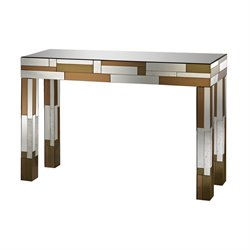 Sterling Heavy Metal Mirrored Console Table in Copper