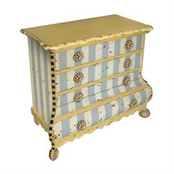 Sterling Pinwheel Accent Chest in Blue and White and Black