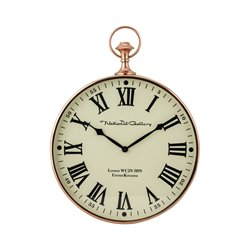 Sterling Wall Clock in Shiny Copper