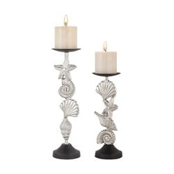 Sterling Playa Candle Holder 2 Piece Candle Holder Set in Nickel