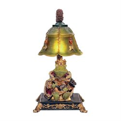 Sterling Resting Queen Frog Table Lamp in Filey Green