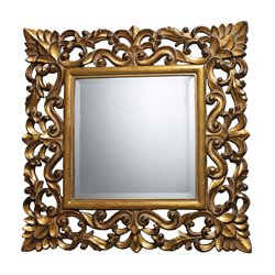 Sterling Barrets Decorative Mirror in Antique Gold Leaf and Gloss Gold