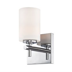 Alico Barro Vanity Light in Chrome and White Opal Glass