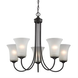 Charleston Chandelier in Oil Rubbed Bronze