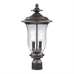 Cornerstone Trinity Post Lantern in Oil Rubbed Bronze