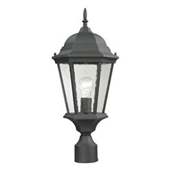 Cornerstone Temple Hill Post Lantern in Matte Textured Black