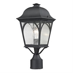 Cornerstone Cape Ann Outdoor Post Lantern in Matte Textured Black