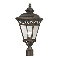 Cornerstone Mendham Outdoor Post Lantern in Hazelnut Bronze