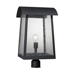 Cornerstone Prince Street Outdoor Post Lantern in Matte Black