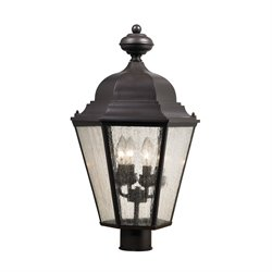 Cornerstone Cotswold 4 Light Outdoor Post Lantern in Oil Rubbed Bronze