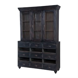 GuildMaster Farmhouse China Cabinet in Black