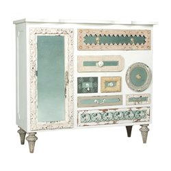 GuildMaster Mosaic Accent Chest in White