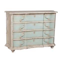 GuildMaster Duchess Accent Chest in Cream and Blue