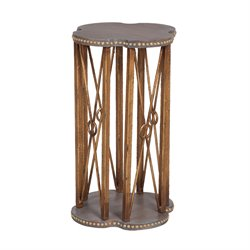 GuildMaster Bedford Accent Table in Gray and Gold