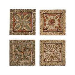 GuildMaster Carved Wall Plaque (Set of 4)