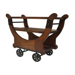 GuildMaster Mill Cross Bar Cart in Dark Stain