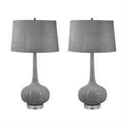 229-S2 Del Mar Table Lamp in Gray (Set of 2)