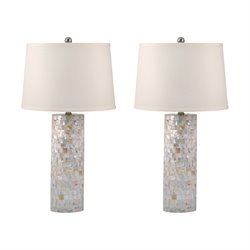 812-S2 Mother of Pearl Table Lamp (Set of 2)